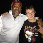 Frankie Antonelli with Darius Rucker following their duet at the Wando High School talent show. PHOTO CREDIT: Debbie Antonelli